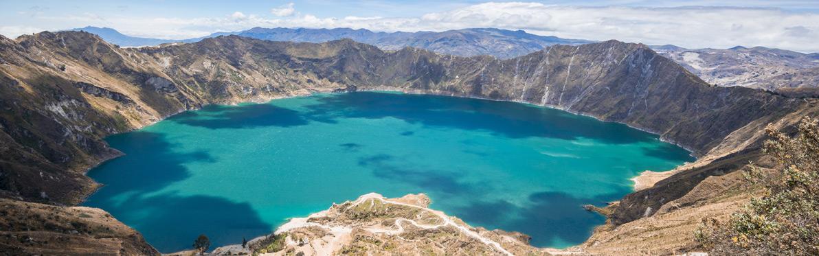 Voyage Découverte en Equateur - Lagune et Cratère Volcanique de Quilotoa