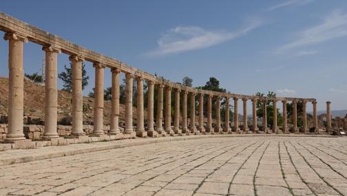 Sur les traces du passage des Romains en Jordanie