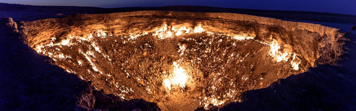 Voyage Découverte au Turkménistan - Le Cratère de Darvaza, les Portes de l'Enfer