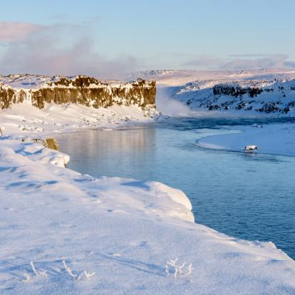 Circuit en Islande : Aurores Boréales et Volcans en Raquettes