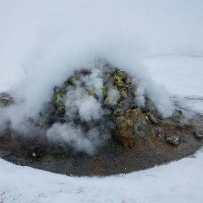 Voyage en Islande : Aurores Boréales et Volcans en Raquettes